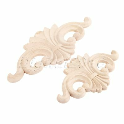 Classic Wood Carved Frame Decal Mouldings Bookcase Onlay Applique Corner Decor