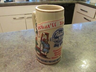 Vintage Pabst Blue Ribbon Beer Stein The House of Wiebracht Limited Edit #5352