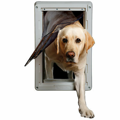 "Extra Large Ruff Weather Frame Door with Dual Flaps 9/34"" X 17"" XL DSRWXL"