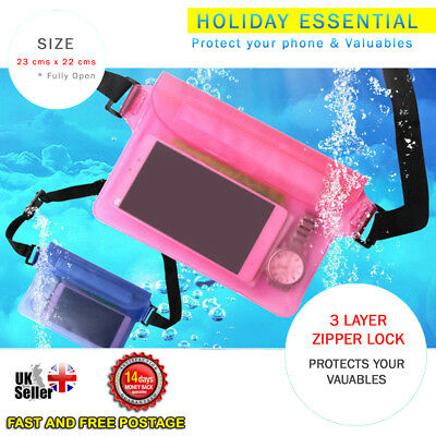 Mobile Phone Swimming Beach Waterproof Waist Bag Pocket Dry Case Pouch Passport