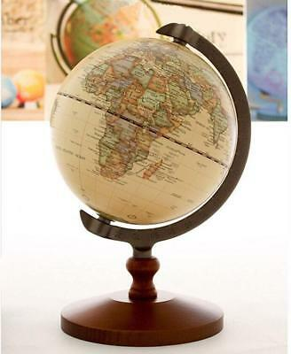 Wood Globe Table Desktop Decorative World Vintage Antique Earth Free Shipping
