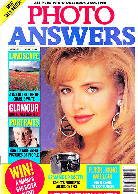Photo Answers magazine with  Konica Aiborg    reviewed   October   1991