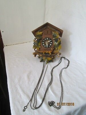 Large Vintage Cuckoo Clock Spares Or Repair