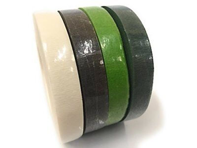 INERRA® Mix & Match 2 x Stem Tape 90ft x 13mm Brown Green White Florist Garden