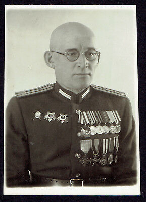 Photo Russian USSR Soviet Army Colonel Officer w/ awards (3194)