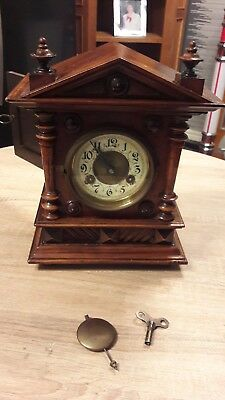 Antique mantle clock made. 8 day Strike early 1900's German