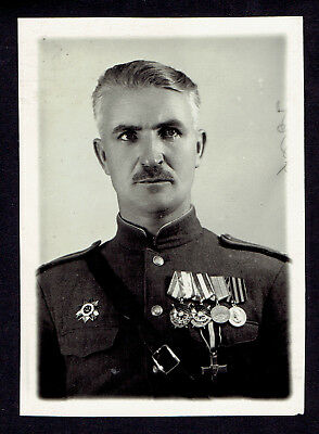 Photo Russian USSR Soviet Army Colonel Officer w/ awards (3196)