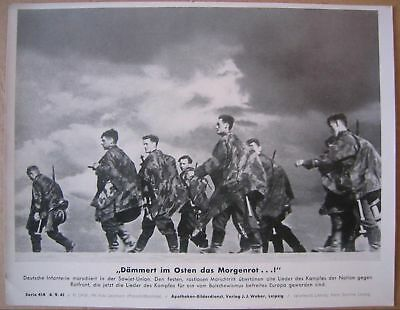 Original 1941 German press large print photo WH Soldiers East front camo Russia