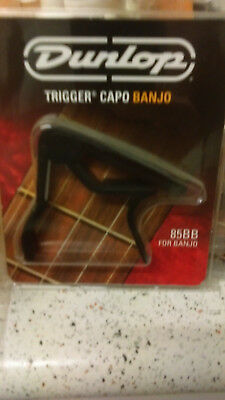 Jim Dunlop Trigger Capo J85B for banjo. Black NEW 85BB