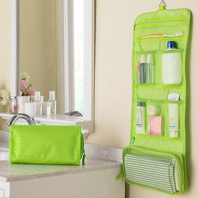 Wash Folding Cosmetic Bag Portable Travel Hanging Waterproof Toiletry Case Bags