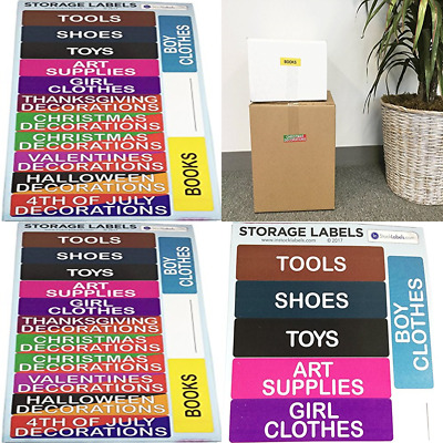Storage Labels For Moving Supplies Color Coding Home Stickers Box & Organizing P