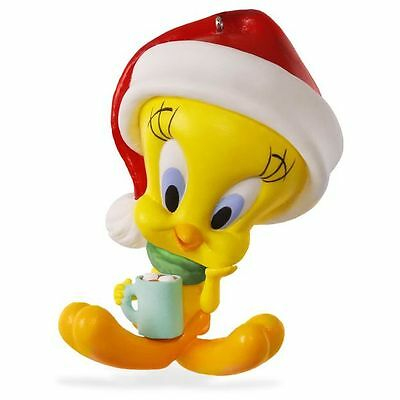 2016 Hallmark HOT COCOA CHRISTMAS Looney Tunes TWEETY bird dated ORNAMENT