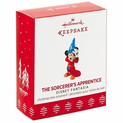 2017 Hallmark THE SORCERER'S APPRENTICE Disney MICKEY MINI miniature ORNAMENT