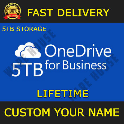 ONEDRIVE 5TB LIFETIME STORAGE 5PCs Office 365 online CUSTOM YOUR NAME