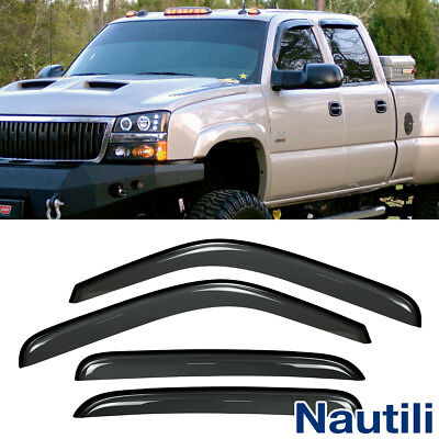 4pcs Sun Rain Guard Vent Shade Window Visors Fit Chevy Gmc Cadillac