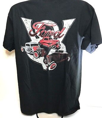 T-Shirt w/ Ford V8 Logo / Emblem Hot Rods Car Truck Model A Licensed