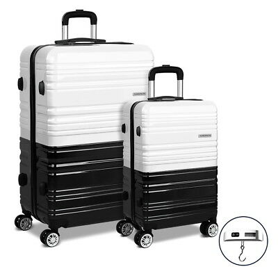 Wanderlite 2pc Luggage Suitcase Free Scale Trolley Set TSA Hard Case Lightweight