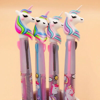 Cartoon Unicorn 3 Colors Ballpoint Pen Ball Point Pens Kids School Office hot