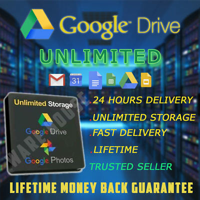 Google Drive UNLIMITED LIFETIME Cloud Storage RANDOM NAME ✔ INSTANT DELIVERY ⭐