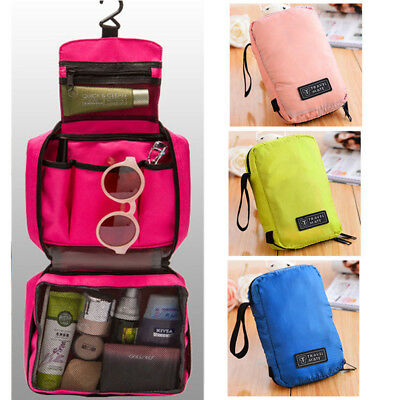 Travel Cosmetic Storage MakeUp Bag Folding Toiletry Wash Organizer Hanging  Pouch 17a9aa76b86d6