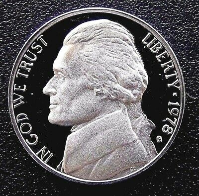 PROOF Nickel Jefferson 1978-S UNITED STATES (Type 1 - Filled S)(453)