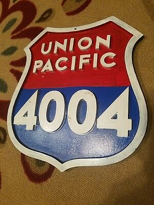 Union Pacific Train Engine Badge Store Display Sign
