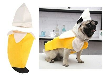 Pet Halloween Costume Dog Cat Banana Uniform Suit Puppy Clothes for Holiday Fit