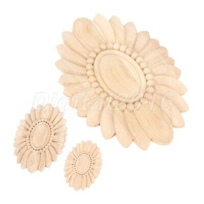 Wood Carved Onlay Decal Frame Mouldings Door Home Cabinet Applique Classic Decor