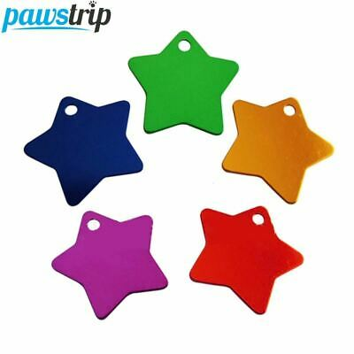 100pcs/lot Star Dog Tags Aluminum Custom Engraved Name Pet ID Tag 31mm
