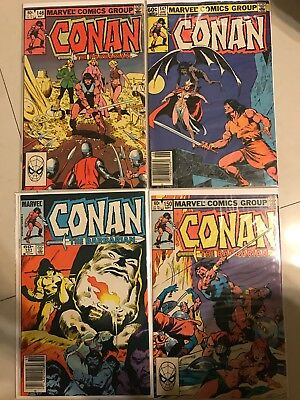 Conan The Barbarian Comic Book Lot #146, #147, #150 and #151 (Great Condition)