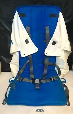 UPPAbaby G-Luxe Stroller Replacement Seat w/ Buckle & Straps - 2015 - Blue/White
