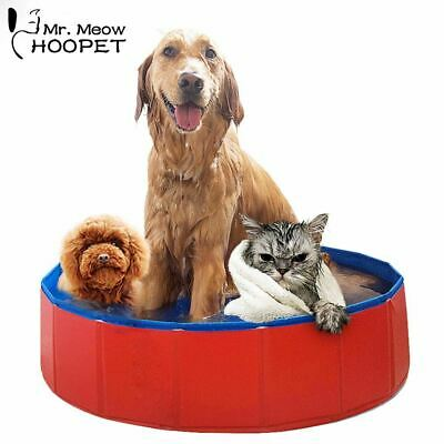 Foldable Pet Swimming Pool PVC Bathing Tub Bathtub for Large Dogs,Collapsible Pe