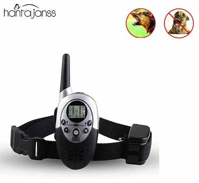 1000M Waterproof Rechargeable LCD Remote Pet Dog Training Collar Electric Shock