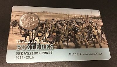 2016 50 cent UNC The Battle of Pozieres
