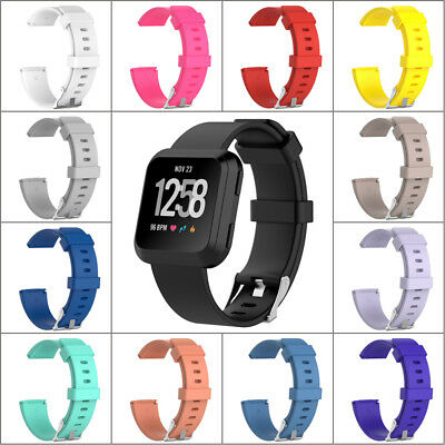Replacement Silicone Wristband Strap Watch Band Bracelet w/pins For Fitbit Versa
