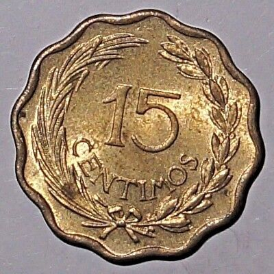 15 Centimos 1953 PARAGUAY (British Royal Mint second issue) (352)
