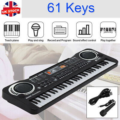 61 Key Digital Electronic Music Keyboard&Microphone LED Piano 2 Years and Younge