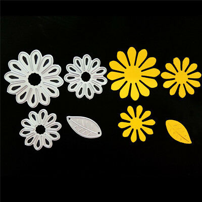 4pcs Petals Metal Cutting Dies Stencil for DIY Scrapbooking Album Paper Cards FB