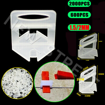 Tile Leveling System Clips Levelling Tiling Spacer Cutter Tool Wall Floor 1.5mm