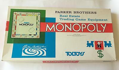Vintage Toltoys Monopoly Board Game - 100% Complete -  Plastic Tokens