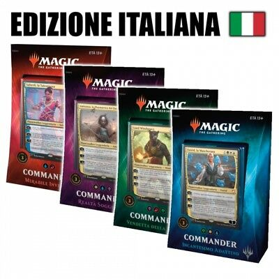 Commander Deck 2018 EDH mtg MAGIC 4 Mazzi Set Completo Italian PREVENDITA