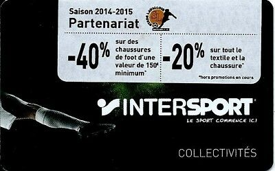 Carte Cadeau Intersport.Carte Cadeau Intersport Foot Fidelite Gift Card Geschenkkart