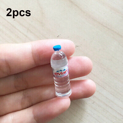 2pcs Dollhouse Miniature 1/6 Scale Kitchen Mineral Water Bottle Drinking Toy