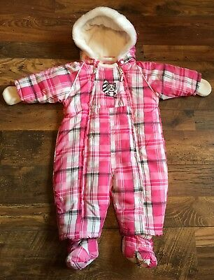Clothing, Shoes & Accessories Bnwt Girls Juicy Couture Snowsuit/ All In One Coat 6-9 Months Leopard Print Fur Outerwear