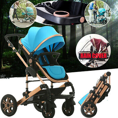 9 in 1 Baby Toddler Pram Stroller Foldable Buggy Jogger With Bassinet Pushchair