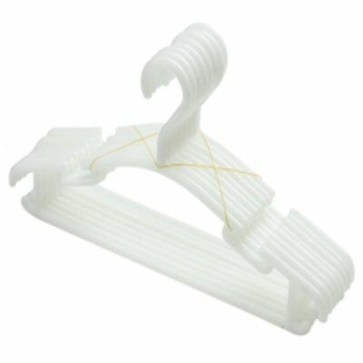 WHITE - Pack of 10 Pieces Hanger Non-slip hangers for children's clothes PP A5A9