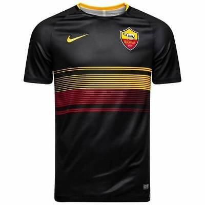 Nike AS Roma Pre Match Training Shirt 2018/19 - Black - Mens