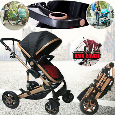 Baby Stroller Pram 9 IN 1 Newborn Baby Jogger Foldable Pushchair Travel Carriage