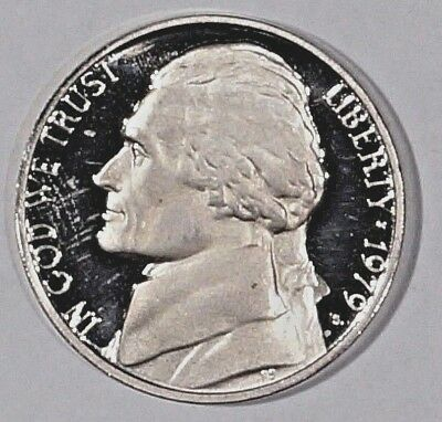 """PROOF Nickel 1979-S  UNITED STATES  """"Monticello"""" (filled S)(579)"""