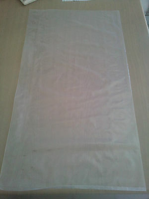 100 Heavy Duty Large Plastic Bags Clear 35cmx70cm suitable for manure Fits 10kgs